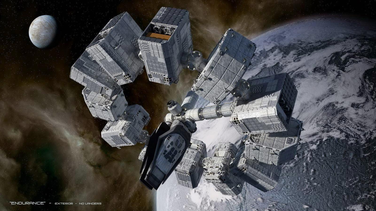 Soaring INTERSTELLAR Spaceship Concept Art by Steve Burg ...