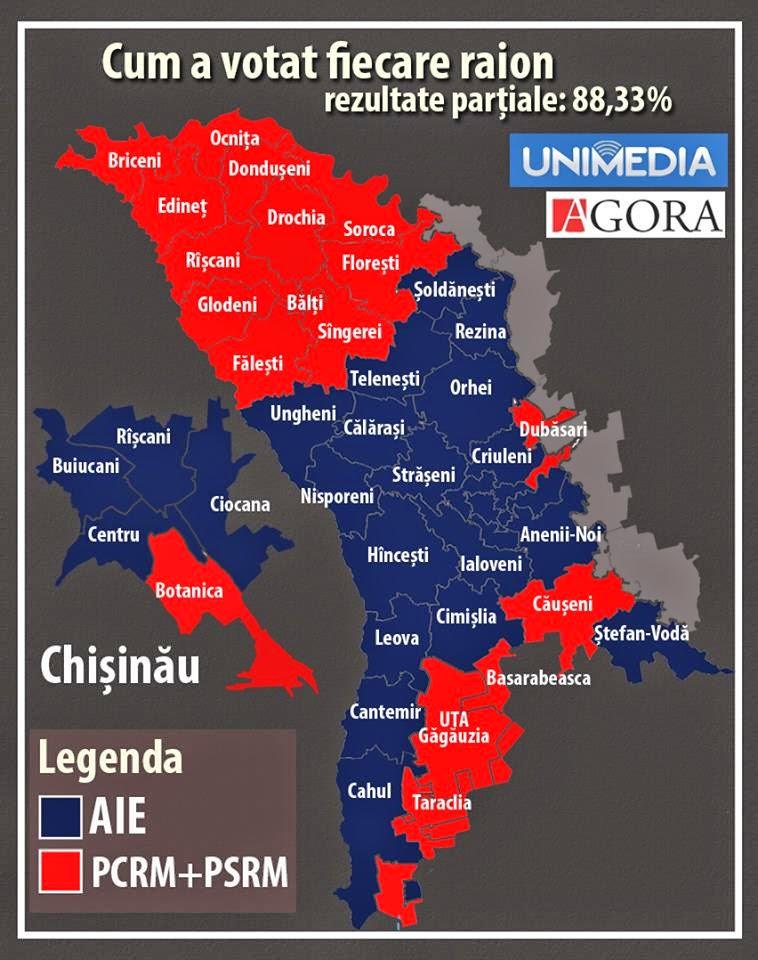 Votantii lui Dodon : Nordul Republicii Moldova si Comrat