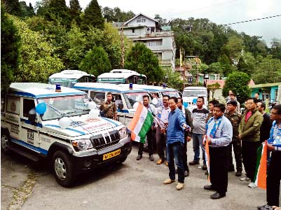 Four ambulances flagged off in GTA Darjeeling