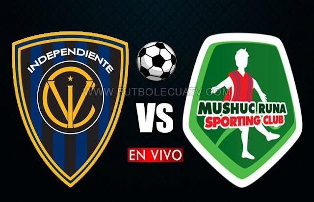 Independiente del Valle choca ante Mushuc Runa en vivo desde las 12:15 hora local por la fecha 21 de la Serie A jugándose en el reducto Rumiñahui, siendo el árbitro principal Marlon Vera con transmisión del canal autorizado GolTV Ecuador.