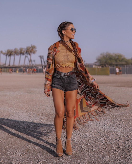 Camila Coelho Cropped Crochê Coachella