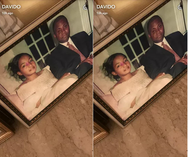 Picture of Davido's father with his late mum