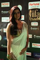 Varalakshmi in Cream Saree Sleeveless Backless Deep Neck Choli at IIFA Utsavam Awards March 2017 038.JPG