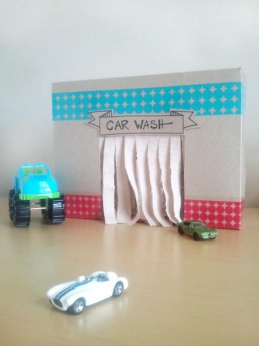 Lavado de coches de cartón