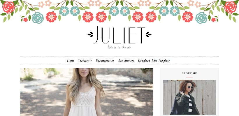 Juliet Free Blogger Template