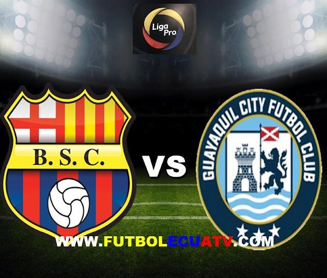Barcelona SC recibe a Guayaquil City en vivo desde las 17h00 horario programado por la FEF a efectuarse en el Estadio Monumental Isidro Romero Carbo siendo el último partido de la fecha ocho de la Liga Pro Ecuador, con arbitraje principal de Guillermo Guerrero emitido por el canal autorizado de GolTV.