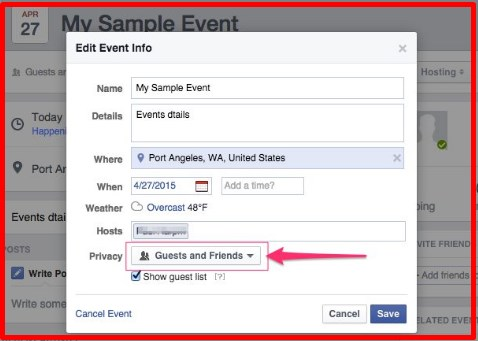 how to make someone else a host on a fb event