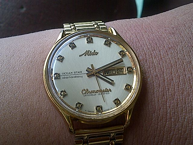 Jam tangan kuno antik dan MODERN: MIDO CRHONOMETER 8439