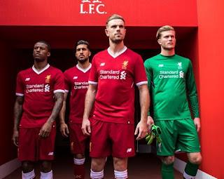 Liverpool Rilis Jersey Kandang Terbaru Musim 2017-2018