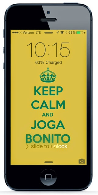 "Keep calm and joga bonito"" wallpaper 