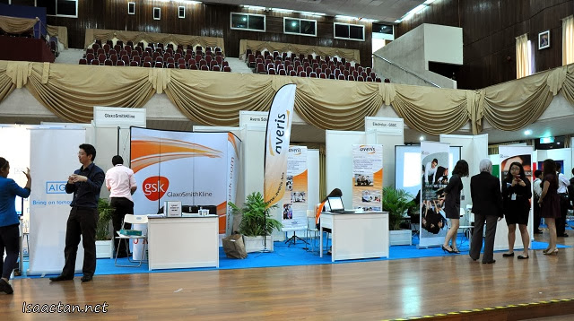 An overview of the hall before the start of the TalentCorp Sector Focused Career Fair 2013