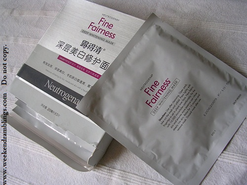 Neutrogena Fine Fairness Deep Whitening Mask - Review