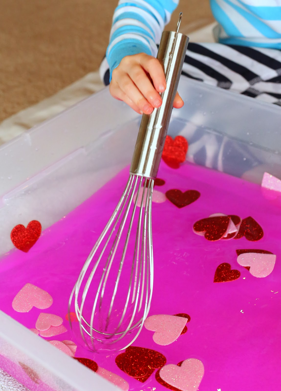 Toddler Sensory Play Valentine S Day Soup