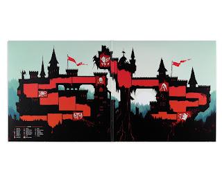 castlevania vinilo ost mapa castillo