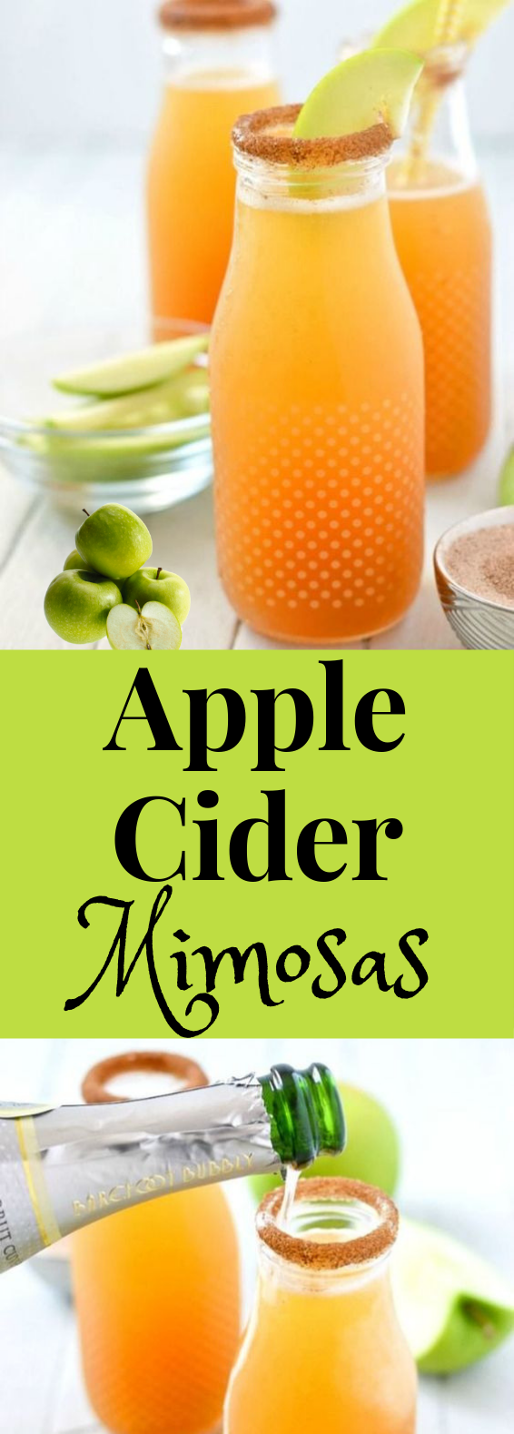Must Try Fall Drink: 2 Ingredient Apple Cider Mimosas #FallDrink #Mimosas