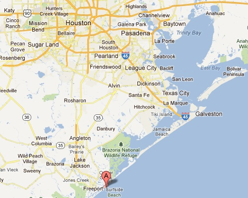 Surfside Texas Map Texas Map