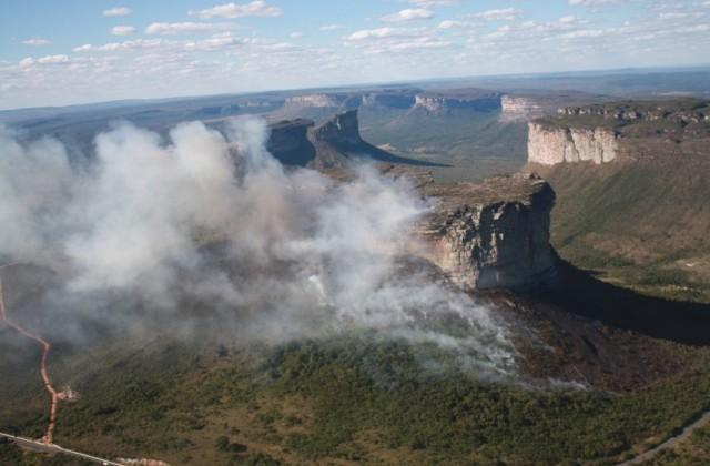 Os incêndios na Chapada Diamantina foram responsáveis pela destruição de mais de 51 mil hectares de vegetação. Destes, 15 mil ficam dentro do Parque Nacional da Chapada Diamantina | Foto: Divulgação