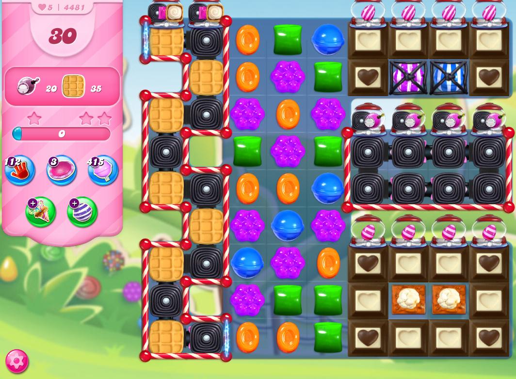 Candy Crush Saga level 4481