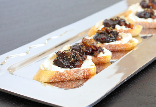 ricotta fig bruschetta