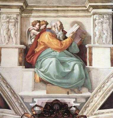 O profeta Zacarias de Michelangelo