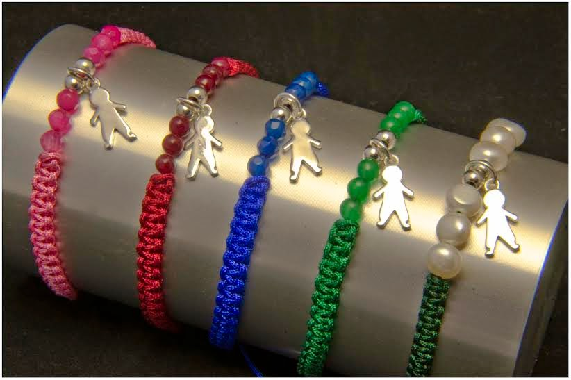 Pulsera día de la madre, colgante plata, semipreciosas, perlas, joyeria artesanal personalizada