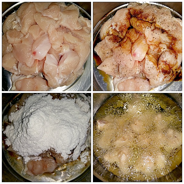 Step by Step pictures of how to make restaurant style chili chicken