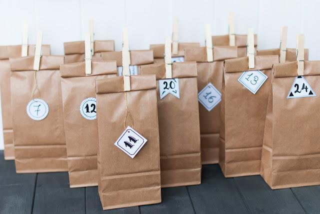 Adventskalender, DIY, Zahlen, Adventskalenderzahlen, Idee, poule folle, Freebie, Garn, Masking Tape