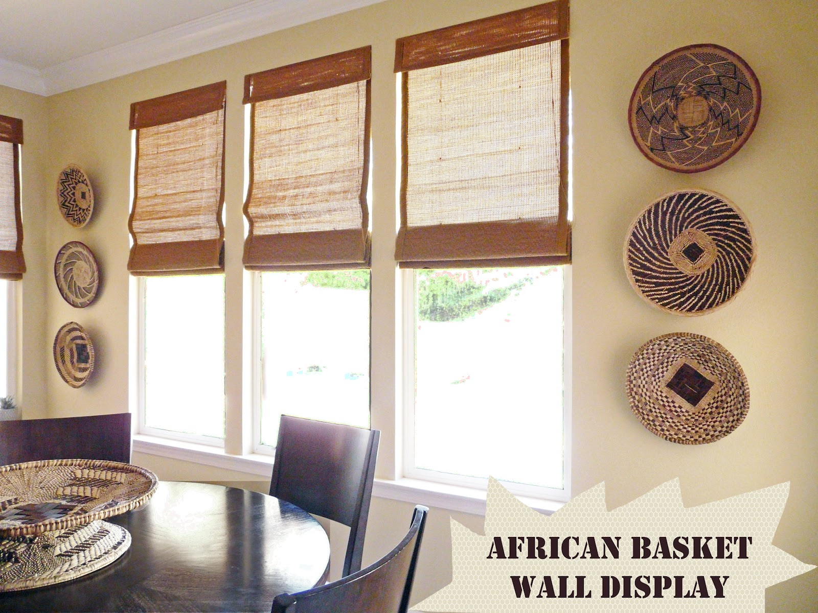 Home African Basket Wall Decor