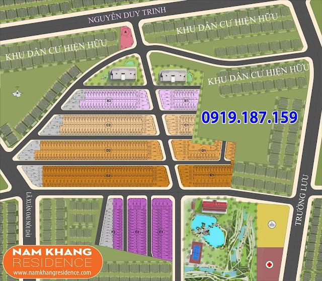 Mặt Bằng Phân Lô Nam Khang Residence