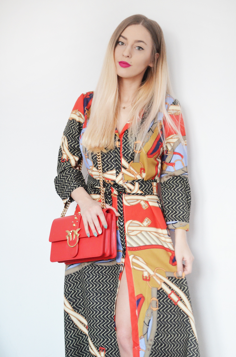 SCARF PRINTED DRESS