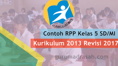 Contoh RPP Matematika Kelas 5 SD/MI Semester 2 Kurtilas Revisi 2017