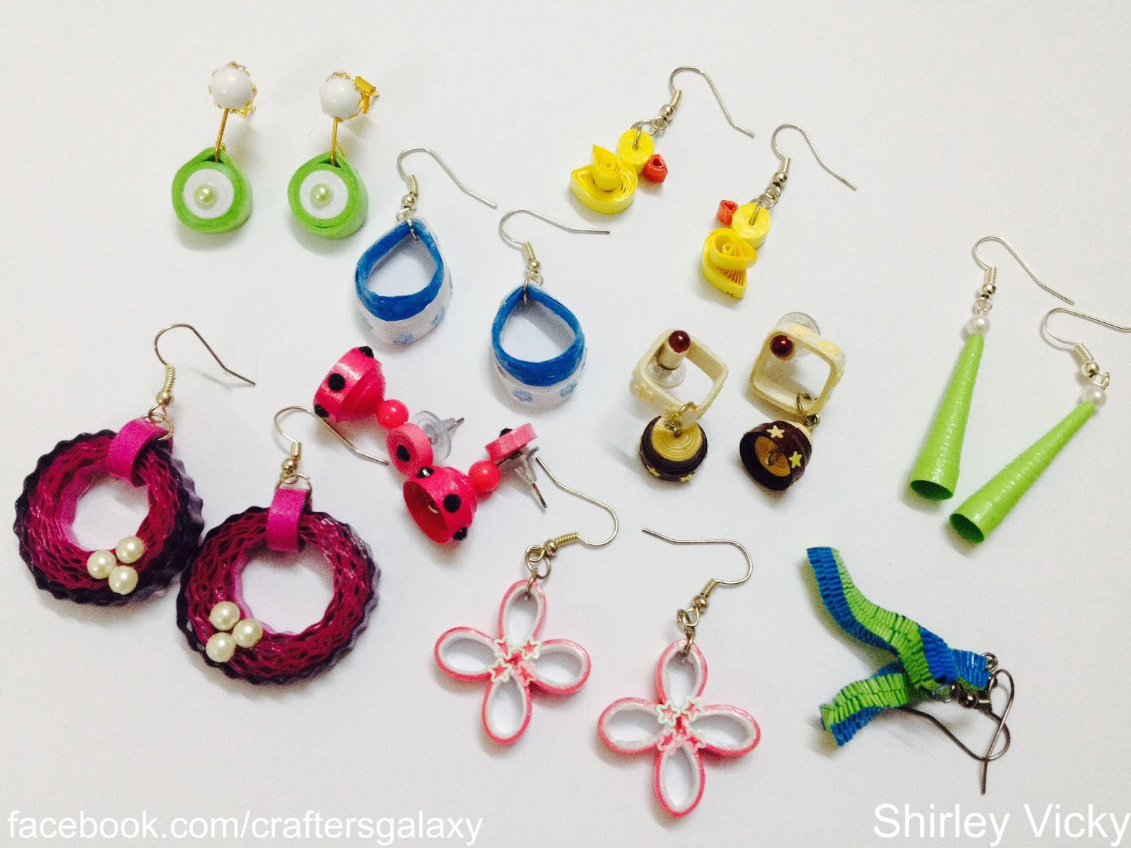 So I Decided To Make Cute Little Earrings In Quilling Since It Is Harmless And Weightless They Can Wear For All Occasions Unless Don T Get Wet