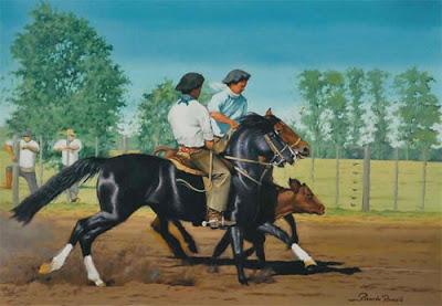 apartando caballo