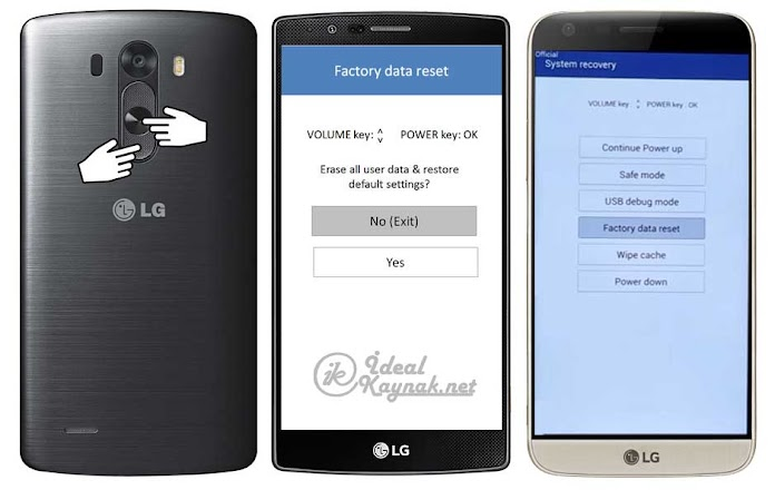 LG Telefonlara Format Atma [Hard Reset Atma]