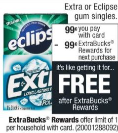 print Extra Gum Single Packs coupons
