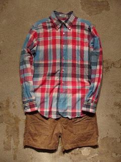 "Engineered Garments ""Fatigue Short in Khaki 14W Corduroy"""