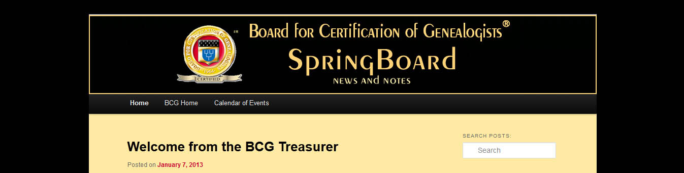 Marian\'s Roots and Rambles: BCG\'s New Blog: SpringBoard: News and Notes