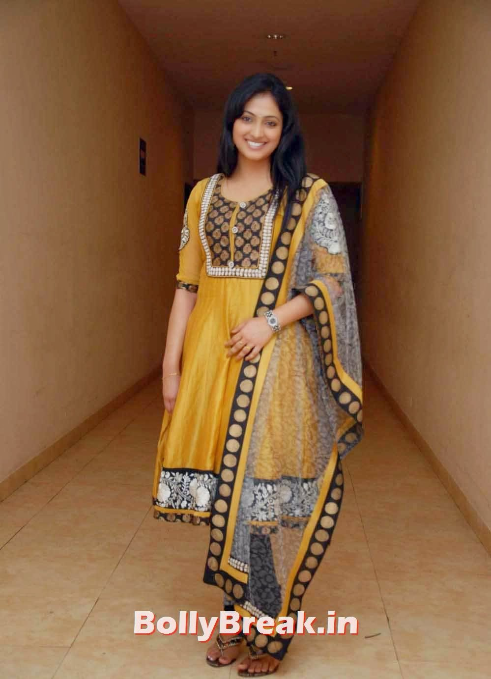 , Haripriya Photos in Yellow Churidar Salwar Kameez