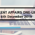 Current Affairs One-Liner: 6th December 2019