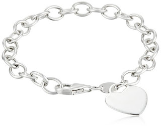 Sterling Silver Bracelet with Heart Charm $34 (reg $134)