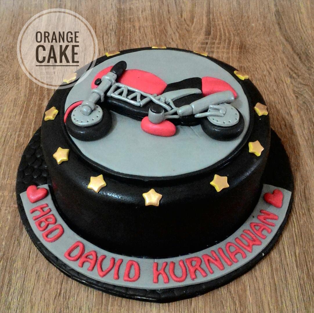 Orange Cake Ducati Birthday Cake For David