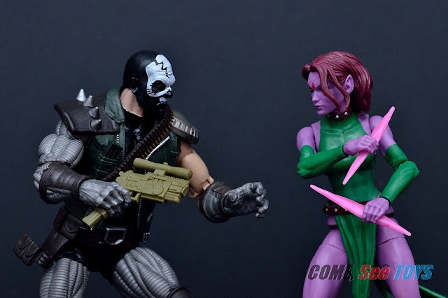 Marvel Legends Series Blink & Skullbuster (Caliban BAF)