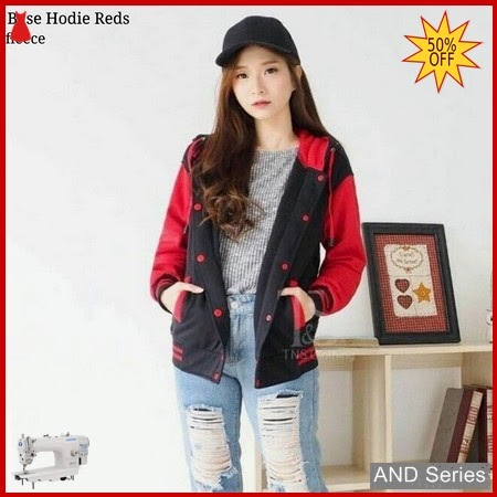 AND425 Jaket Wanita Base Hoodie Merah Jacket BMGShop