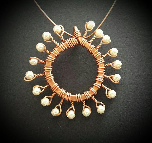 Copper Pendants, Wire Wrapped Jewellery, Copper Jewelry