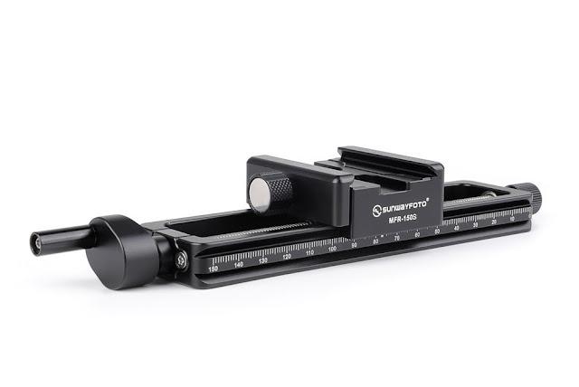 Sunwayfoto MFR-150S Macro Focusing Rail front/sideview