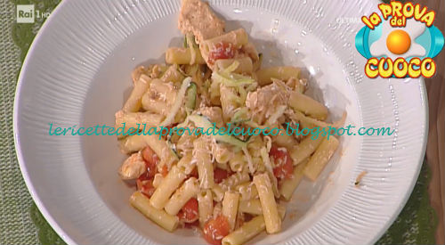 Prova del cuoco - Ingredienti e procedimento della ricetta Pasta fredda con pollo e zucchine di Cristian Bertol