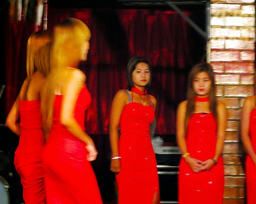 Sexy Myanmar girls in red