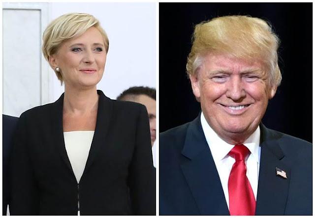 agata duda zignorowała wyciągniętę rękę Donalda Trumpa