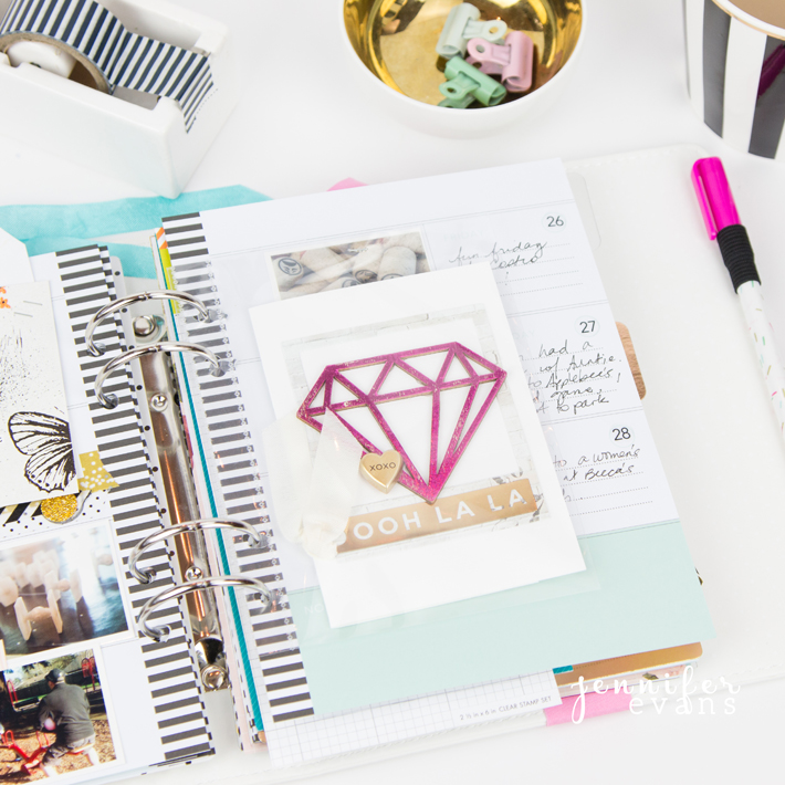 February Memory Planner pages and how to tell your story in a planner for @heidiswapp by @createoften