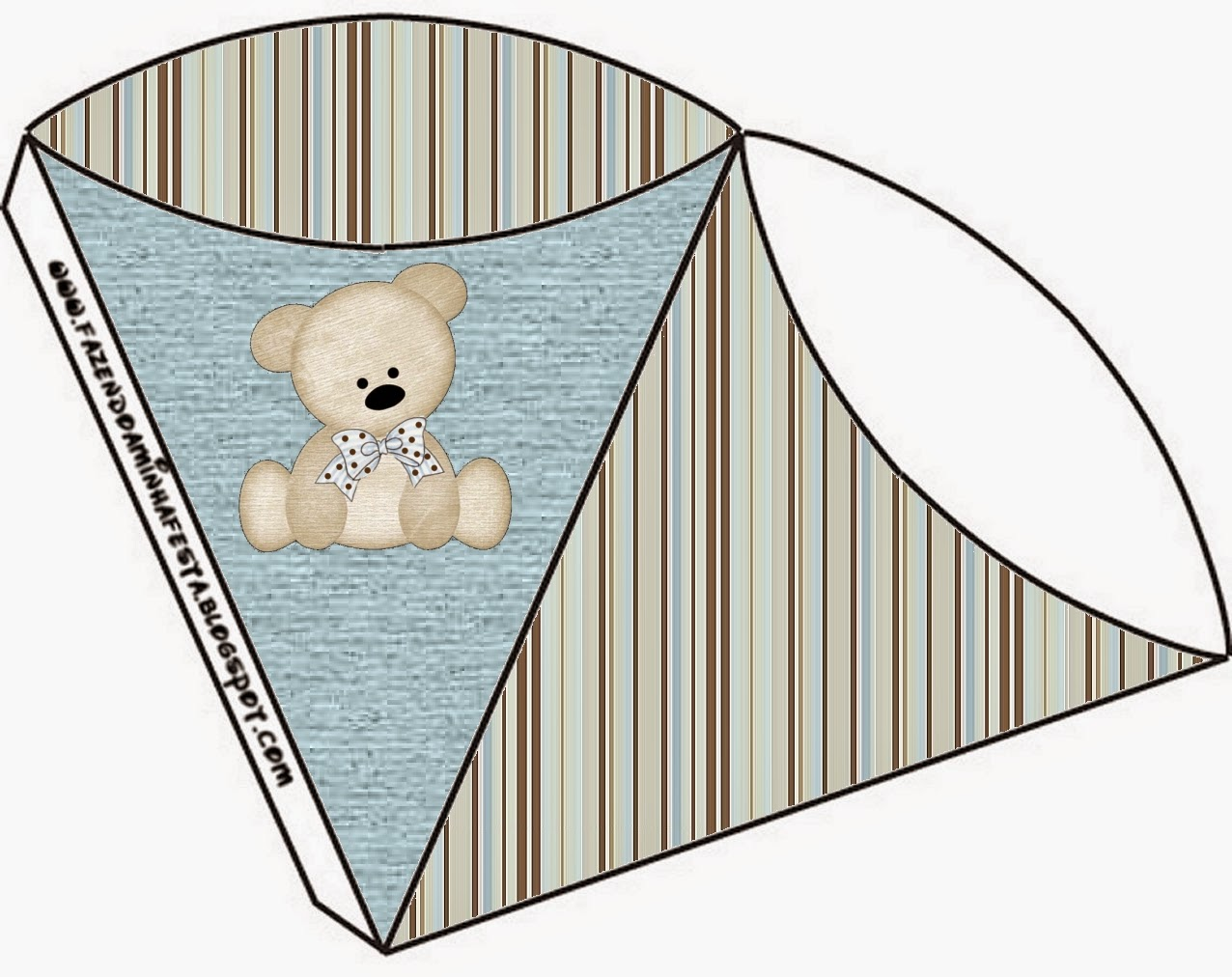 Teddy Bear Family, Free Printable Cones.